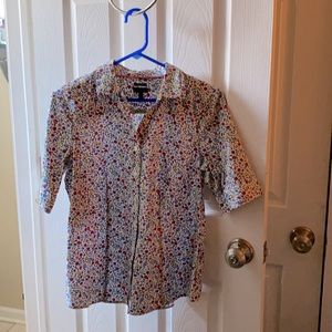Talbots | Size 8 Floral Blouse women's Short sleev